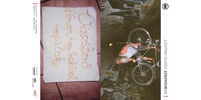 biciklis notesz Budapest fotóival