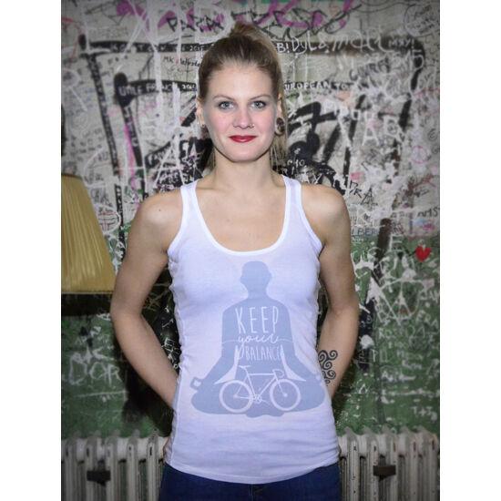 BBM - Keep your balance - Fehér ujjatlan női trikó