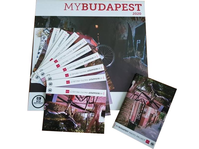 MyBudapest naptár 2020 + jegyzetfüzet + 10 db-os képeslapcsomag