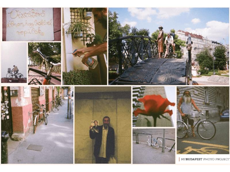 biciklis képeslapok egy csomagban