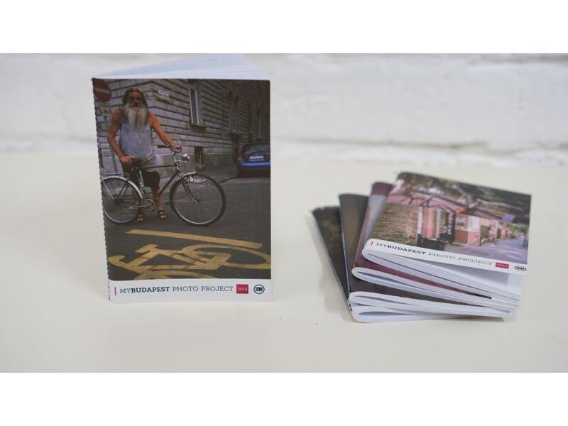 biciklis notesz Budapest képeivel